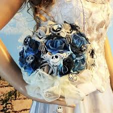jack skeleton halloween nightmare before christmas wedding bouquet bridal