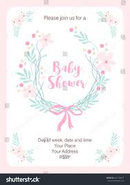 Vintage Floral Frame For Invitation Wedding Baby Shower Card Cute Rustic Frame Hand Drawn Flowers Stock Vector 447716977