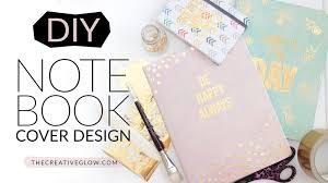How To Use Home Design Gold by Diy Notebook Cover Design Gold Leaf Designer Look Youtube