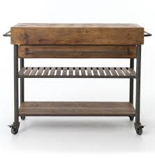 kershaw rustic chunky reclaimed wood iron double drawer kitchen