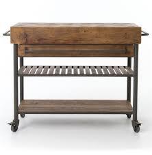 iron kitchen island kershaw rustic chunky reclaimed wood iron double drawer kitchen