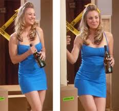 how many people like penny on the big bang theory new hair picture of woman in blue dress hee i never don t crack up at