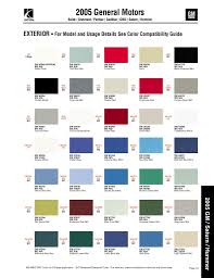 2013 gm color chart images reverse search