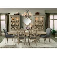 corinne wood double pedestal dining table in sun drenched acacia
