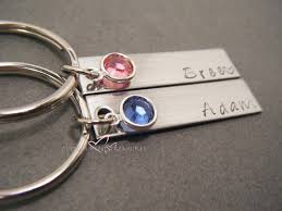 personalized birthstone keychains birthstone keychains custom name keychains couples