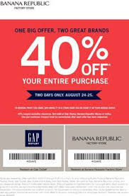 banana republic black friday coupon pinned november 2nd extra 40 off this weekend at gap outlet