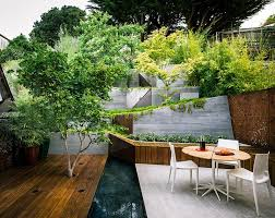 Backyard Sitting Area Ideas with Multi Layered Japanese Style Garden And Sitting Area