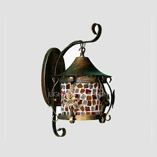 Stained Glass Wall Sconce Lovely Stained Glass Wall Sconce Hanging Veranda Porch Stained