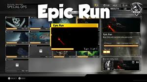 Challenge Tutorial Epic Run Special Ops Challenge Tutorial Infinite Warfare Special