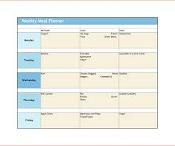 elegant excel weekly meal planner meal planning together with