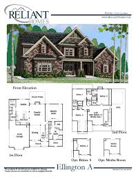 Side Garage Floor Plans by Ellington A Se Reliant Homes New Homes In Atlanta