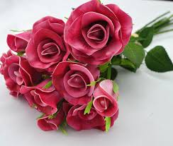 Roses Bouquet Aliexpress Com Buy New Real Touch Natural Touch Pu Flowers
