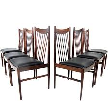 beautiful set of six rosewood high back dining chairs model 422