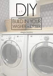 Washer And Dryer Cabinet Diy Built In Washer Dryer Crazy Wonderful