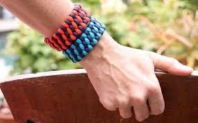 woven weave paracord bracelet images Diy newspaper weave basket fabdiy jpg