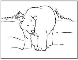 peaceful ideas polar animal coloring pages printable polar bear