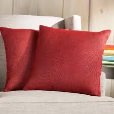 Red Decorative Pillow Throw Pillows U0026 Decorative Pillows You U0027ll Love