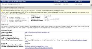 Microsoft Silver Light Silverlight Kb3011970 Listed As Expired