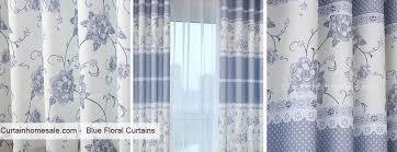 Blue Floral Curtains Floral Curtains