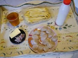 midi en recette de cuisine première recette ce midi pour nous jacques au cidre et pâtes