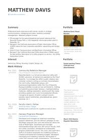 Manager Resume Examples Community Relations Manager Resume Samples Visualcv Resume