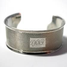 monogrammed cuff bracelet sterling silver cuff bracelet d h w d monogram