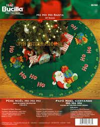 ho ho ho santa 43 bucilla felt tree skirt kit 86168 fth