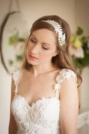 bridal headpiece swooping leaf headband side tiara leaf headpiece bridal