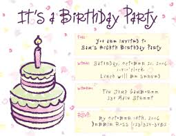 magnificent sample birthday card invitation modern simple cake