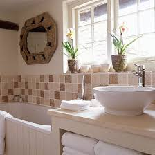 25 best ideas about small country bathrooms on pinterest small neutral bathroom with brown tiles and contemporary cottage
