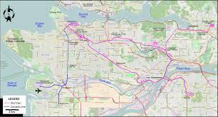 vancouver skytrain map vancouver 2016