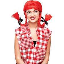 Pippi Longstocking Costume Paper Magic Wirobraids Costume Wig Pippi Longstockings Clown