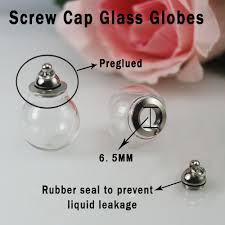 glass ball necklace images 4pcs preglued screw cap glass globe pendant necklaces with rubber jpg
