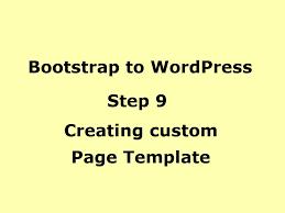 wordpress tutorial creating sidebar template custom template