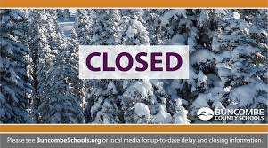 buncombe county schools are closed monday wlos