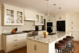 Ivory Colored Kitchen Cabinets Ivory Kitchen Cabinets With Gray Granite Countertops