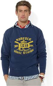 polo ralph lauren sweatshirt naval station fleece crewneck
