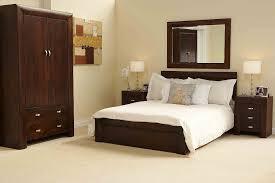 Bedroom Furniture Sets King Size Bed Details About Michigan Dark Wood Bedroom Furniture 5 U0027 King Size