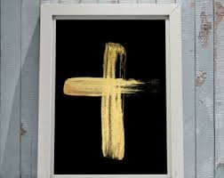home decor crosses rose gold cross on black religious art cross home decor