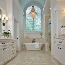 white master bathroom ideas with chandelier elegant master