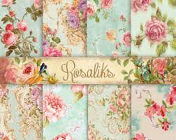 shabby chic wallpaper border shabby chic digital paper floral