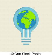 green light bulb meaning light bulb indicates earth day and eco light bulb meaning stock
