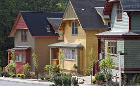 candy tone exterior house paint showed by blue pastel tone and