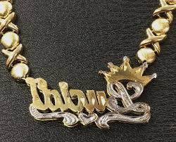 Double Plated Name Necklace Name Plates Necklaces Gold Inspirational K Gold Plate Personalized