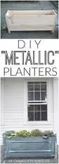 faux metallic planters