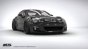 subaru brz white black rims ml24 automotive design prototyping and body kits