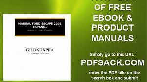 Ford Escape Manual - manual ford escape 2003 espanol video dailymotion