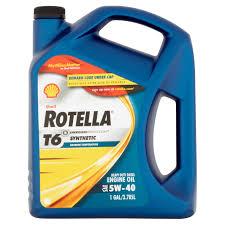 shell rotella full synthetic 5w 40 motor oil 1 gal walmart com