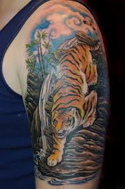 back traditional japanese tiger