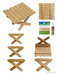Diy Plans Furniture Miniature Pdf by Art Projects For Kids Popsicle Picnic Table Free Pdf Tutorial